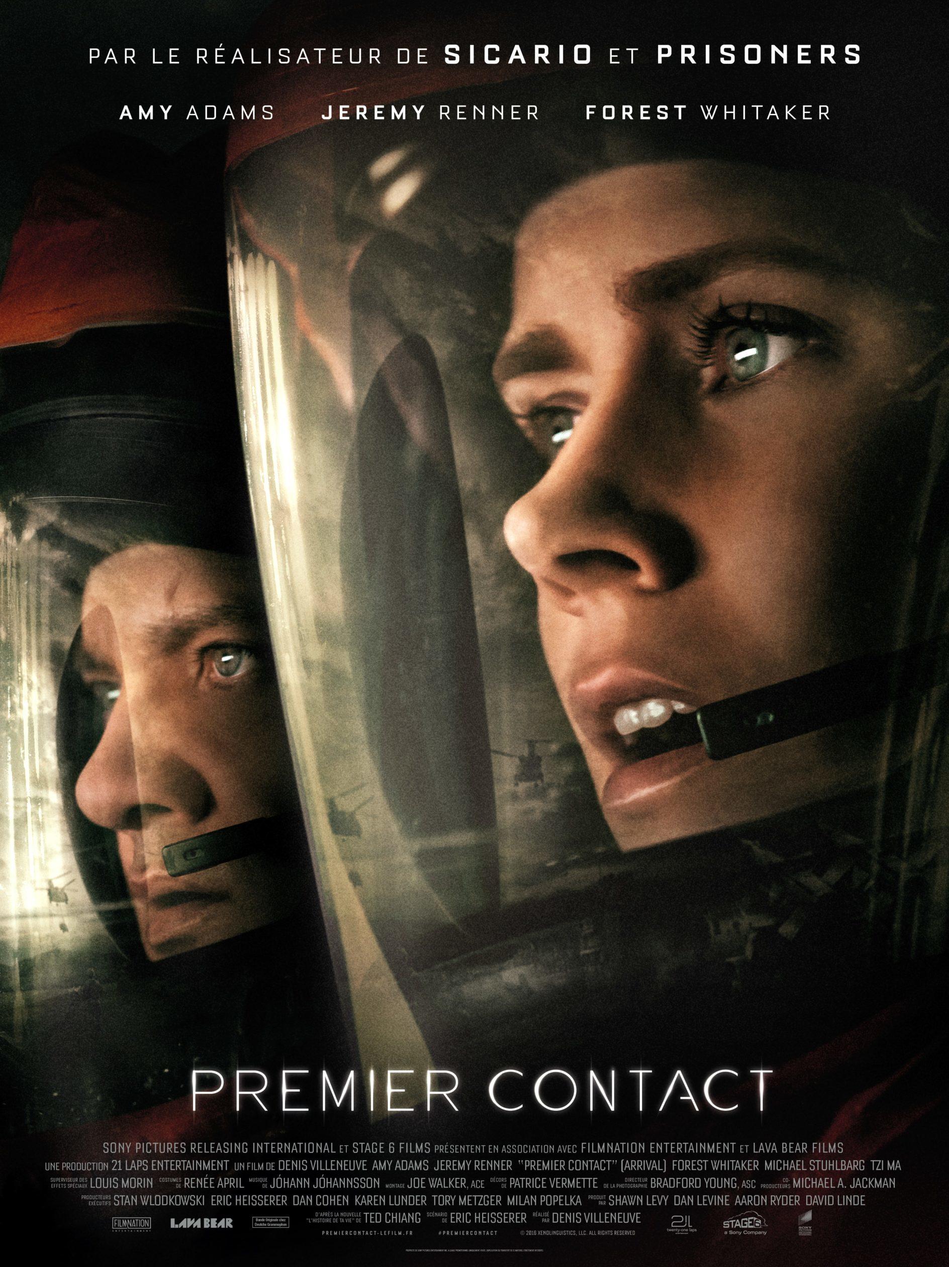 Affiche du film Premier Contact de Denis Villeneuve